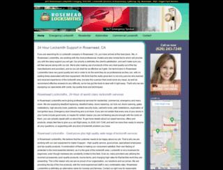 rosemeadlocksmiths.com screenshot