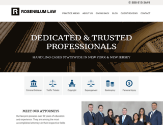 rosenblumlawfirm.com screenshot