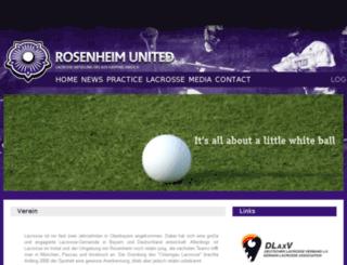 rosenheim-united.de screenshot
