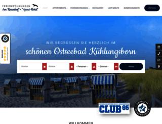 rosenhof-kuehlungsborn.de screenshot