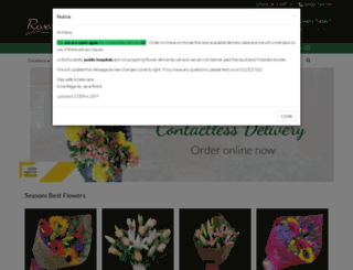 rosesarered.co.nz screenshot
