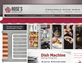 rosesequipment.squarespace.com screenshot