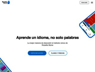 rosettastone.es screenshot