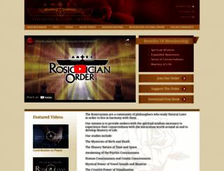 rosicrucian.org screenshot