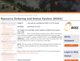 ross.nwcg.gov screenshot