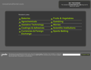 rossdianaflorist.com screenshot