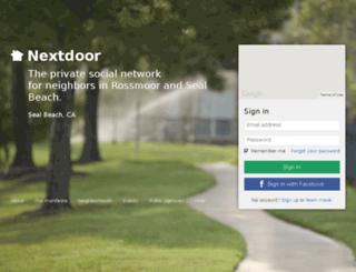rossmoorandsealbeach.nextdoor.com screenshot