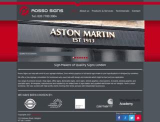 rossosigns.com screenshot