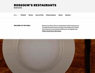 rossouwsrestaurants.co.za screenshot