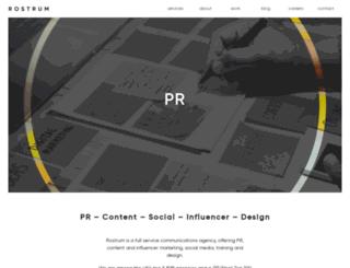 rostrum.agency screenshot