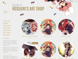 rosuuri.storenvy.com screenshot
