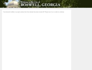 roswellga.munisselfservice.com screenshot