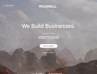 roswellstudios.com screenshot