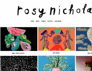 rosynicholas.com screenshot