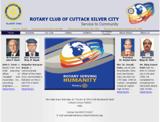 rotarycuttacksilvercity.org screenshot