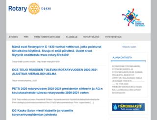 rotarypiiri1430.fi screenshot