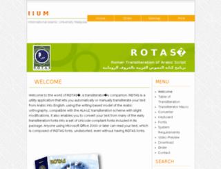 rotas.iium.edu.my screenshot