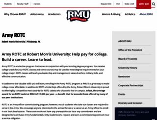 rotc.rmu.edu screenshot