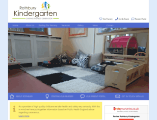 rothburykindergarten.co.uk screenshot
