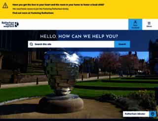 rotherham.gov.uk screenshot