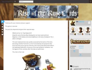 rotrllegacy.obsidianportal.com screenshot
