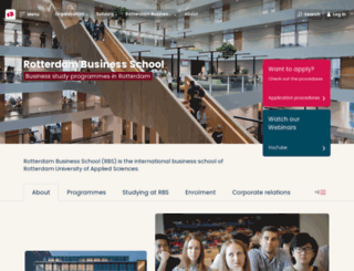 rotterdambusinessschool.nl screenshot