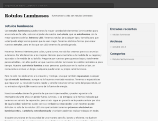 rotulosluminosos.com screenshot