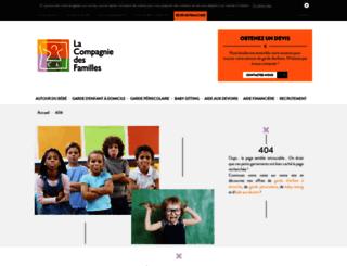 rouen.lacompagniedesfamilles.com screenshot