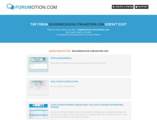 roughnecksxvm.forumotion.com screenshot