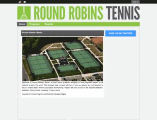 roundrobinstennis.leag1.com screenshot