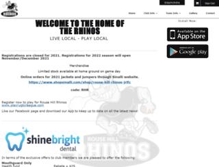 rousehillrhinos.com.au screenshot
