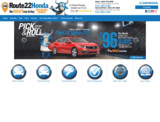 route22honda.com screenshot