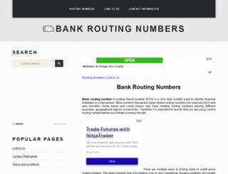 routingnumbers.org screenshot