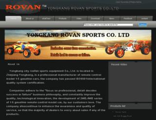 rovansports.com screenshot