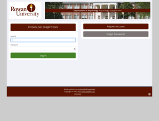 rowan.sona-systems.com screenshot