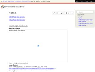 rowbottome-polarbear.wikispaces.com screenshot