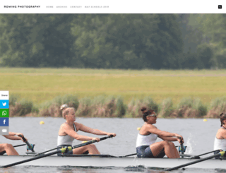 rowingphotography.photoshelter.com screenshot
