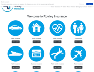 rowleyinsurance.co.uk screenshot