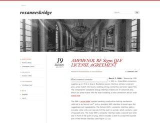 roxanneskridge.wordpress.com screenshot