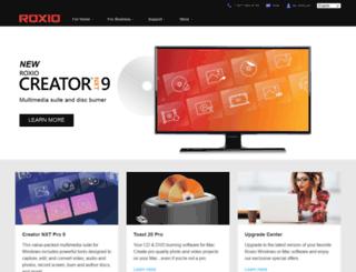 roxio.co.uk screenshot