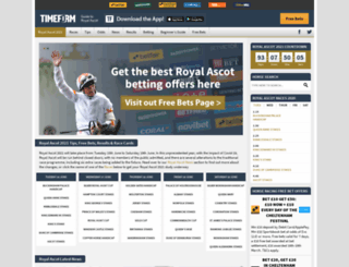 royal-ascot.timeform.com screenshot