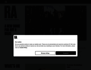 royalacademy.org.uk screenshot