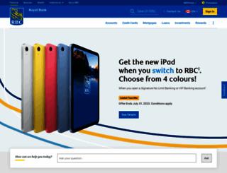 royalbank.com screenshot