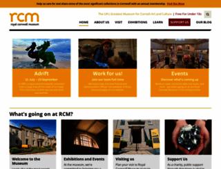 royalcornwallmuseum.org.uk screenshot