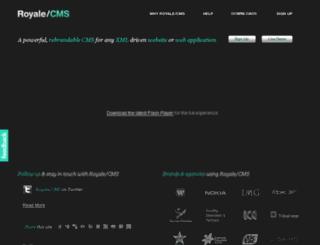 royalecms.com screenshot