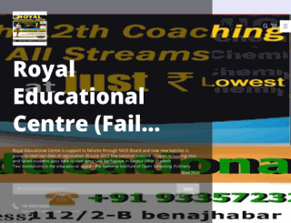 royaleducationalcentre.nowfloats.com screenshot