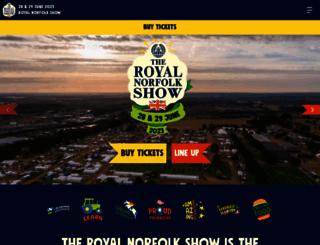 royalnorfolkshow.co.uk screenshot