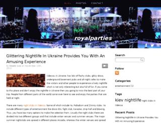 royalparties.snappages.com screenshot