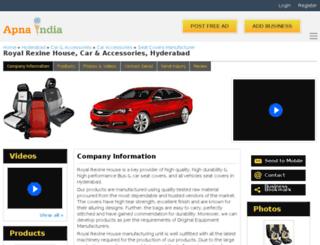 royalrexine-hyderabad.apnaindia.com screenshot