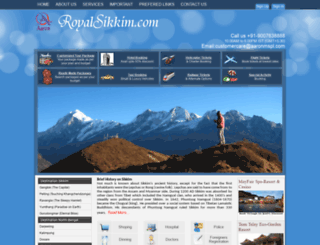 royalsikkim.com screenshot